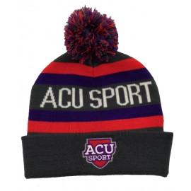 ACU Sport Beanie with Pom Pom