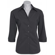 Ladies Social Work Shirt 3/4
