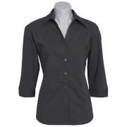 Ladies Education and Arts Shirt 3/4 (Charcoal)